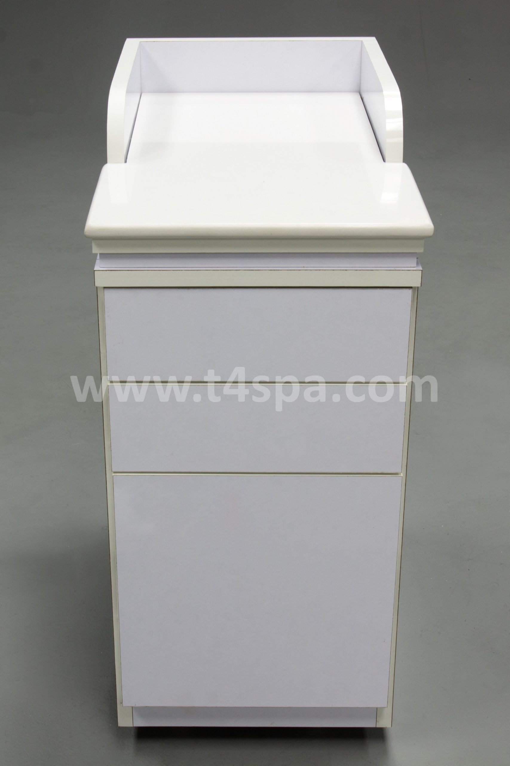 TD-9042 Pedicart Glossy White Top Mable White