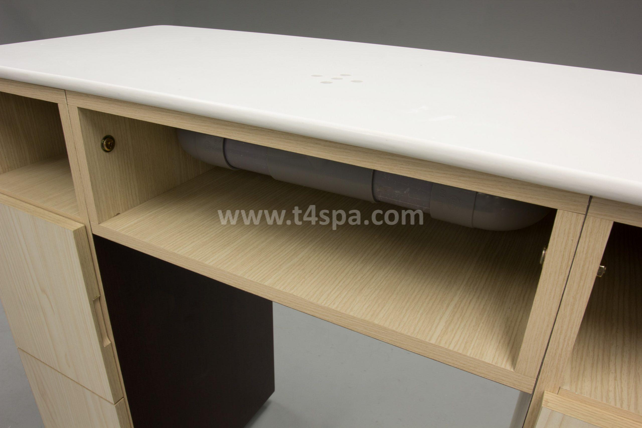 TD-589 Nails Table Dark Wood + Light Detail (1)